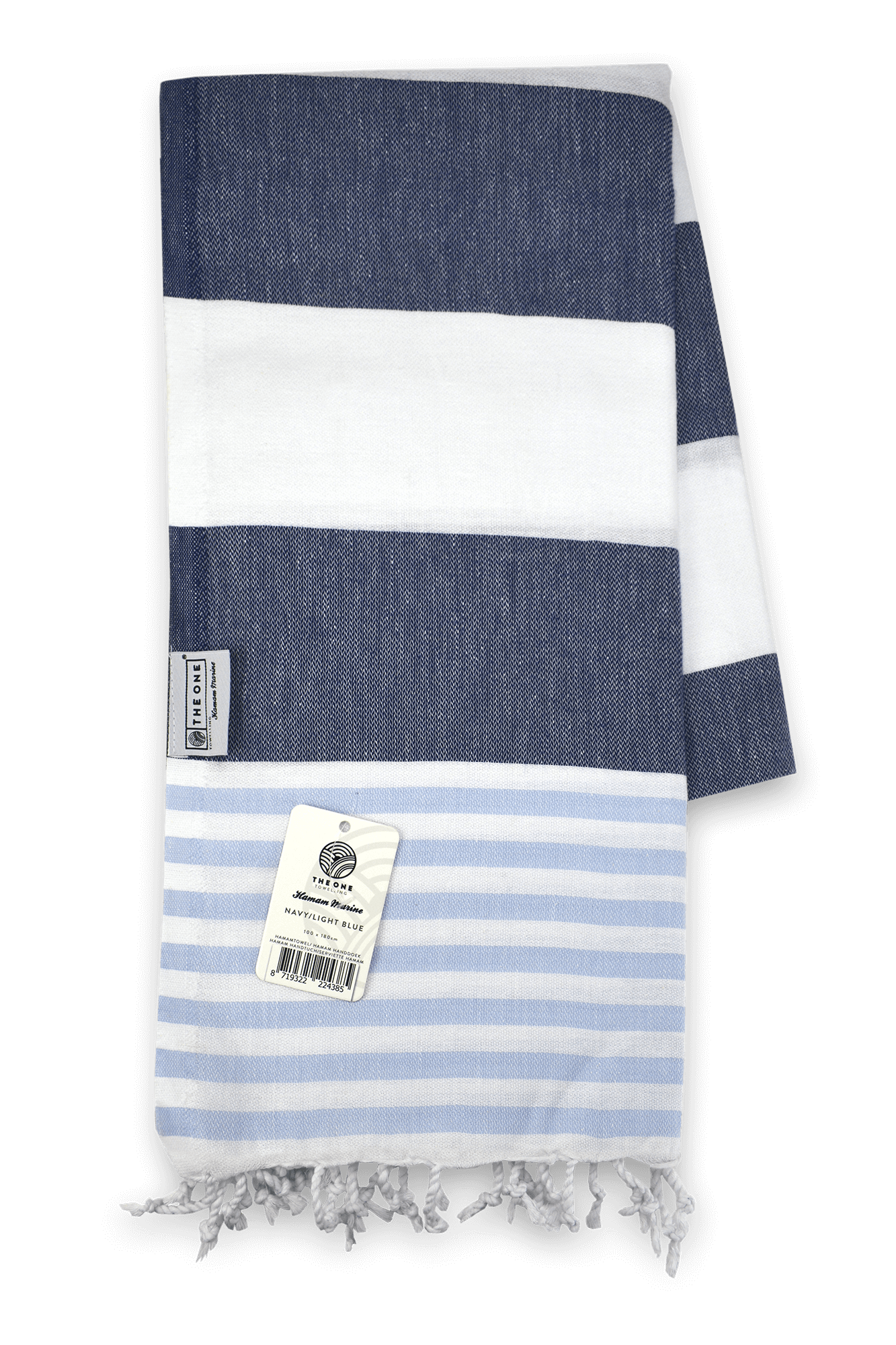 Hamamdoek navy lightblue