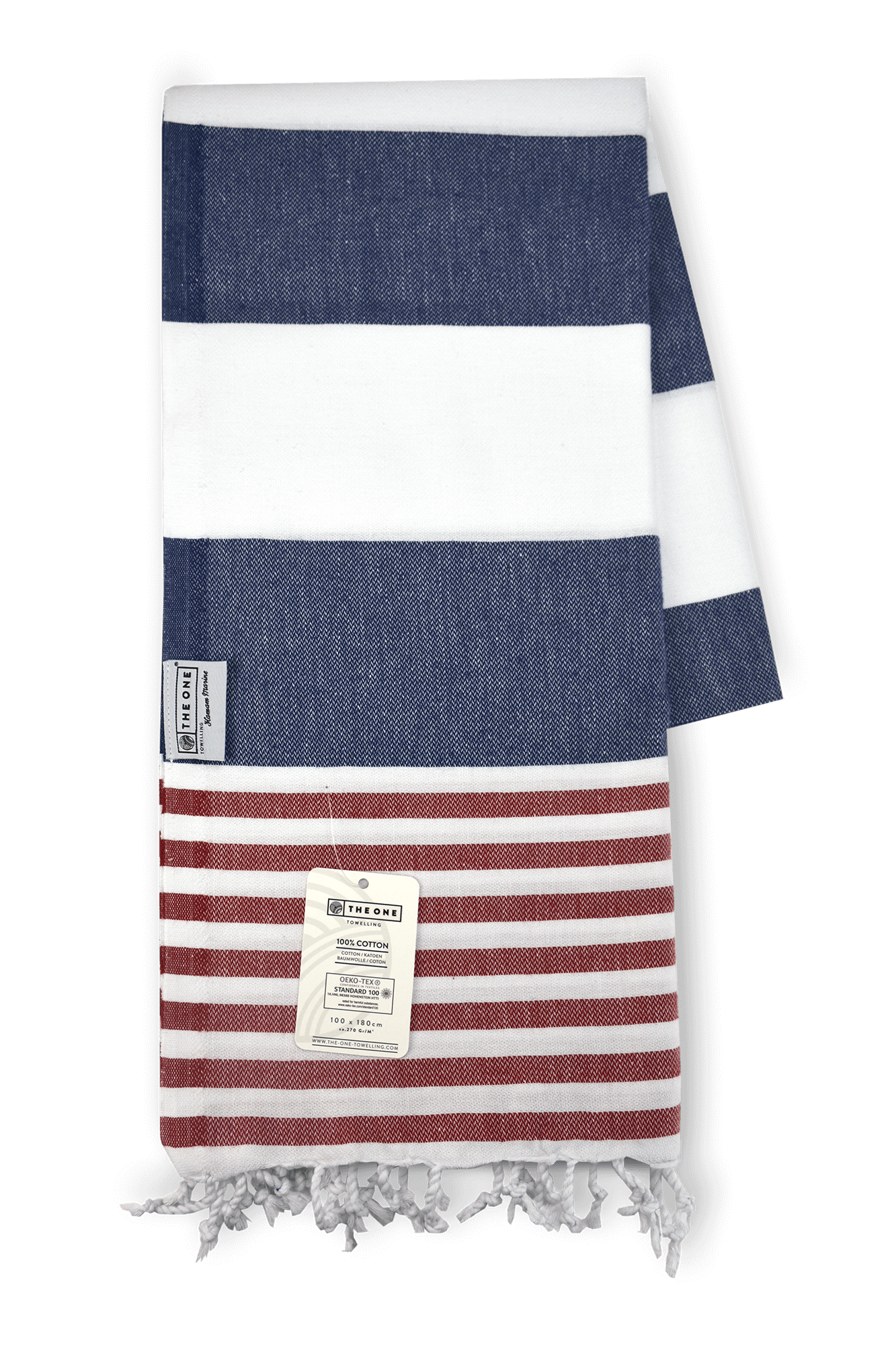 Hamamdoek navy red
